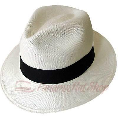 AUTHENTIC PANAMA HAT: FEDORA STRAW HAT