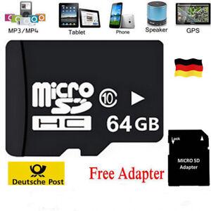 64GB Memory Micro SD Speicherkarte Adapter SD SDHC Karte Class 10 UNIVERSAL