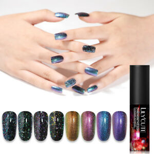 5ml LILYCUTE Chameleon Gel Polish Nail Art Soak Off UV Holographic Gel Varnish