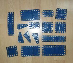 bleue Meccano plaque rectangulaire No73