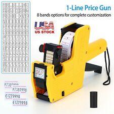 Retail Mx 5500 Price Tag Gun 8 Digits Pricing Labeller Label Roll Sticker Ink