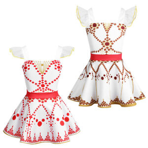 Toddlers-Girls-Cosplay-Dress-Ballet-Dance-Ruffled-Sleeves-Tutu-Skirts-Costumes