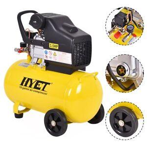 10 Gallon 125 Psi Air Compressor Cast Iron 3 5hp Motor