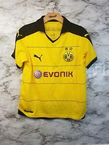 d721086b8155f PUMA BVB Borussia Dortmund Yellow Black Home 15 16 Soccer Jersey ...