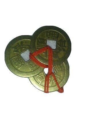 Chinese I Ching Coins Feng Shui Wealth Success Ebay