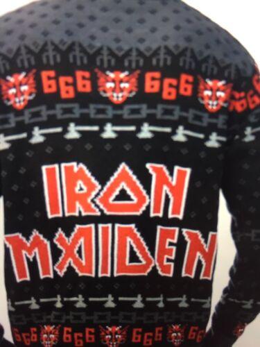 de Soundhouse Maiden Iron de Bos feo Eddie 666 Navidad Suéter vwaTqRg5g