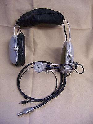 JOYCE JTHM-57 115 6/' Cord 415 Vintage Aviation Headset Microphone