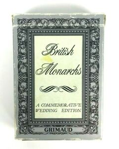 British Monarchs A Commemorative Wedding Edition Grimaud Complete Playing Cards