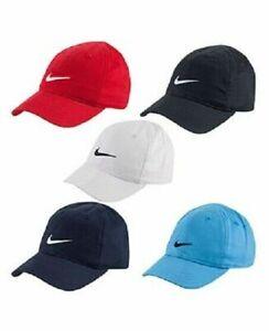4ad256c76 Details about Nike Boys Little Kids Cap, Baseball Hat Size 4-7 Cotton,  Black Gray Blue White