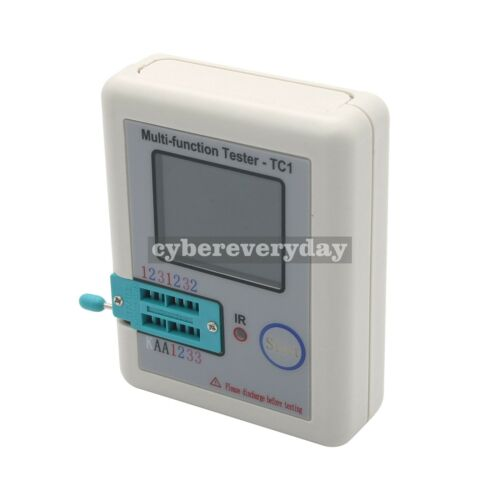 Multi-function Tester TC1 LCR 3.5/'/'TFT Colour Backlight Transistor Test Hooks dt