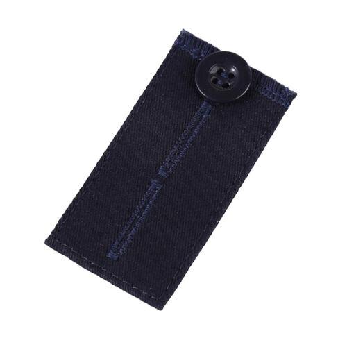 Hose Knopf Elastische Taille Bund Extender Set Jeans Hosen Kleidung Zubehör DE
