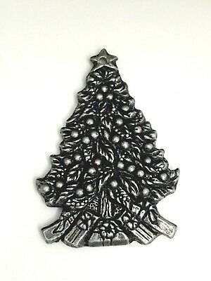 Vintage 1993 Carson Pewter Christmas Tree Ornament Silver ...