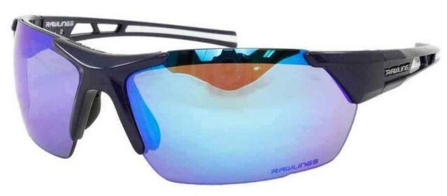 b6664f46c2 Rawlings Mens Athletic Sunglasses Half-Rim Black Blue Mirrored Lens  10237061.QTS