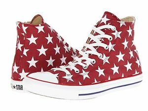 23cfb59f7301 Converse Chuck Taylor All Star Print Hi Top Jester Red White Shoe 8 ...