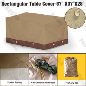 Heavy-Duty-Durable-Rectangle-Table-Cover-Outdoor-Furniture-Dust-Resistant-PS15P