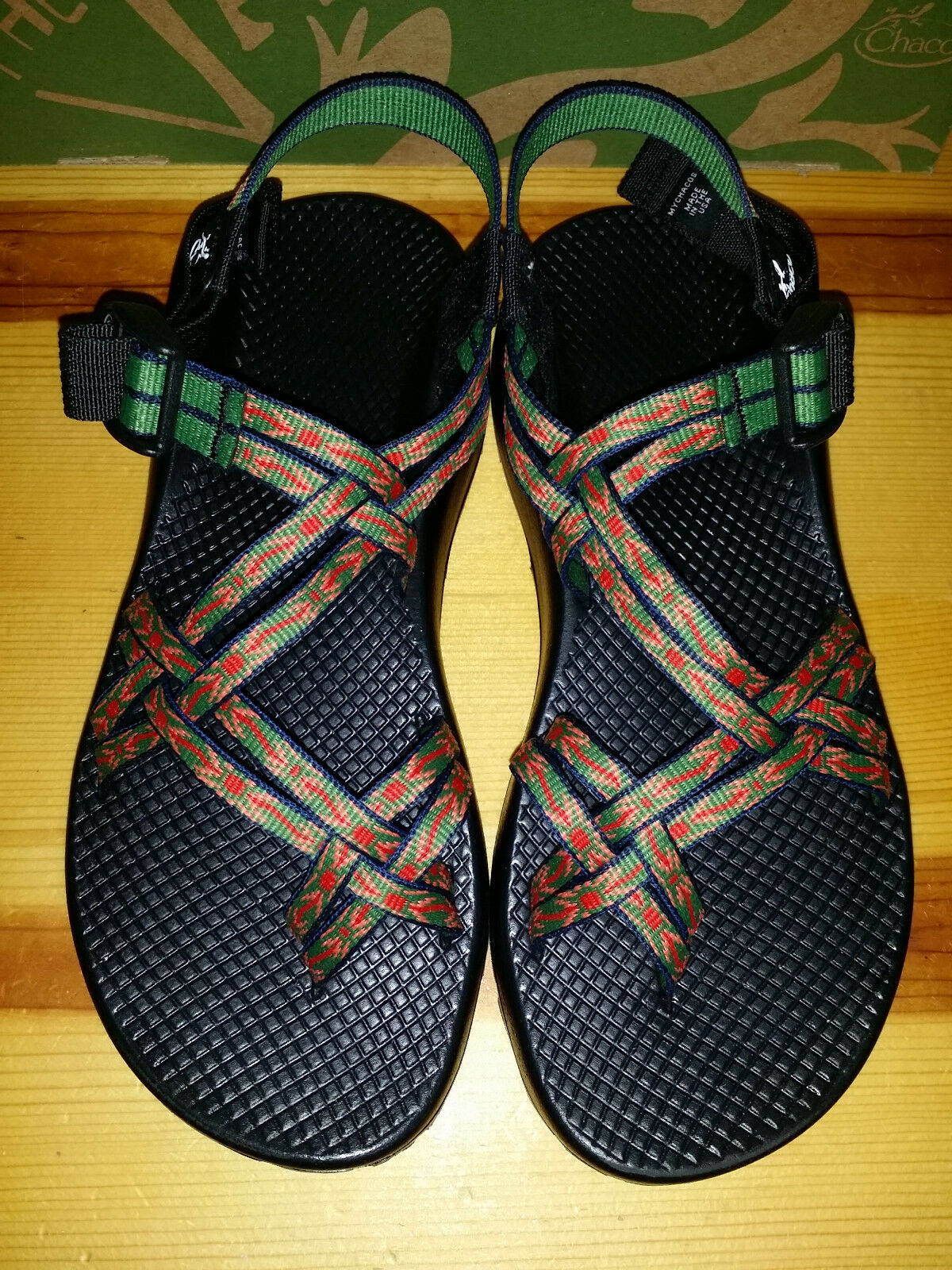 125 Womens 8 8 8 Chaco ZX 2 colorado Sandals MADE IN THE USA Green Red QUICK SHIP 0a168b