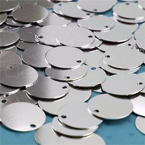 """1/"""" Round Aluminum Stamping Blanks 25 Pk Shiny Anodized 20 Gauge"""