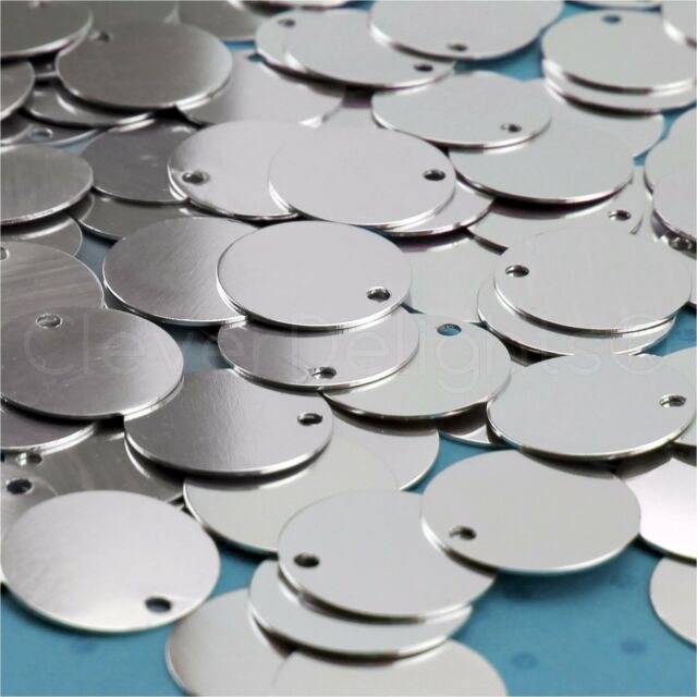 .031 Aluminum 50 Pack Circle Discs Tags 20 Gauge CleverDelights 1 Round Stamping Blanks