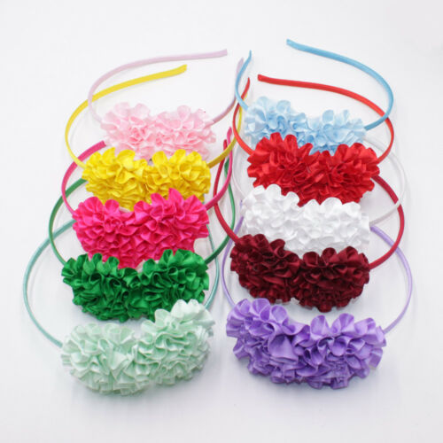 PACK OF 3 /& 4  NEW STYLISH CUTE FLORAL COLOURS HAIR BAND KIDS GIRL BOW HEADBAND