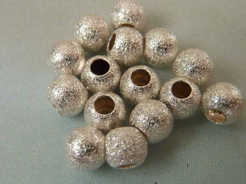 10//20 Silberkugeln Perlen 925 Sterlingsilber diamantiert 4mm 2873//4