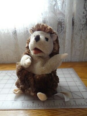 """100% Kwaliteit Folkmanis Hedgehog Hand Puppet Plush Stuffed Animal 7"""" Tall Toy Puppet 2015 Ruime Levering En Snelle Levering"""