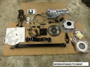 Details about 87-93 Ford Mustang T5 Transmission Swap AOD to 5 Speed  Conversion Kit COBRA GEAR