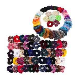 2pcs Women Girl Pearls Scrunchie Hair Band Rope Elastic Tie Ponytail Holder
