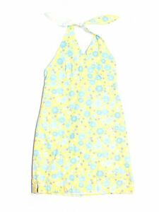 Girl Lilly Pulitzer Yellow Blue Cuba Libre Lion Head Flower Halter Dress Size 16