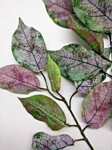 "silk flower floral arrangements 27/"" FROSTED ficus branch"