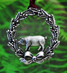 Christmas Pig Ornament Hog