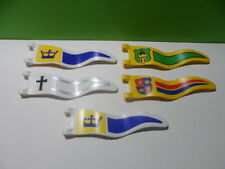 PLAYMOBIL – Lot de 5 drapeaux de chevaliers / Flag / 3268 3287 4133 3652 3666