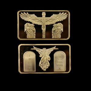 Metal-Coins-Jesus-Gold-Plated-Bar-Commemorative-Coin-for-Souvenir-Gift