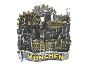 Muenchen-Magnet-Rathaus-Marienplatz-Neuschwanstein-Souvenir-Germany-Neu
