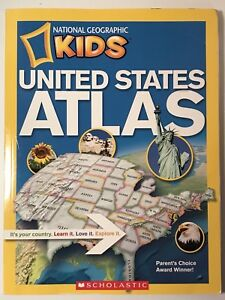 Details about SCHOLASTIC National Geographic Kids: United States Atlas,  paperback