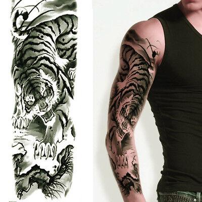 JAPANESE BLACK TIGER TEMPORARY TATTOO ARM SLEEVE LARGE REALISTIC UK