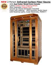 New Two 2 Person FIR Far Infrared Cedar Sauna Canadian Redwood Cedar + MP3 Input