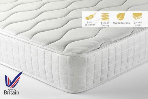 Memory Foam Matress Sprung Mattress 3ft Single 4ft6 Double 5ft King 6ft beds