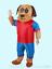 Adults Inflatable dog mascot Costume Suit Boy Girl Fancy Dress Unisex  Handmade