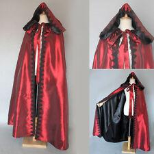 Black Vampire Assassin Velvet Hooded Cloak Cosplay Costume Fancy Dress HC-061