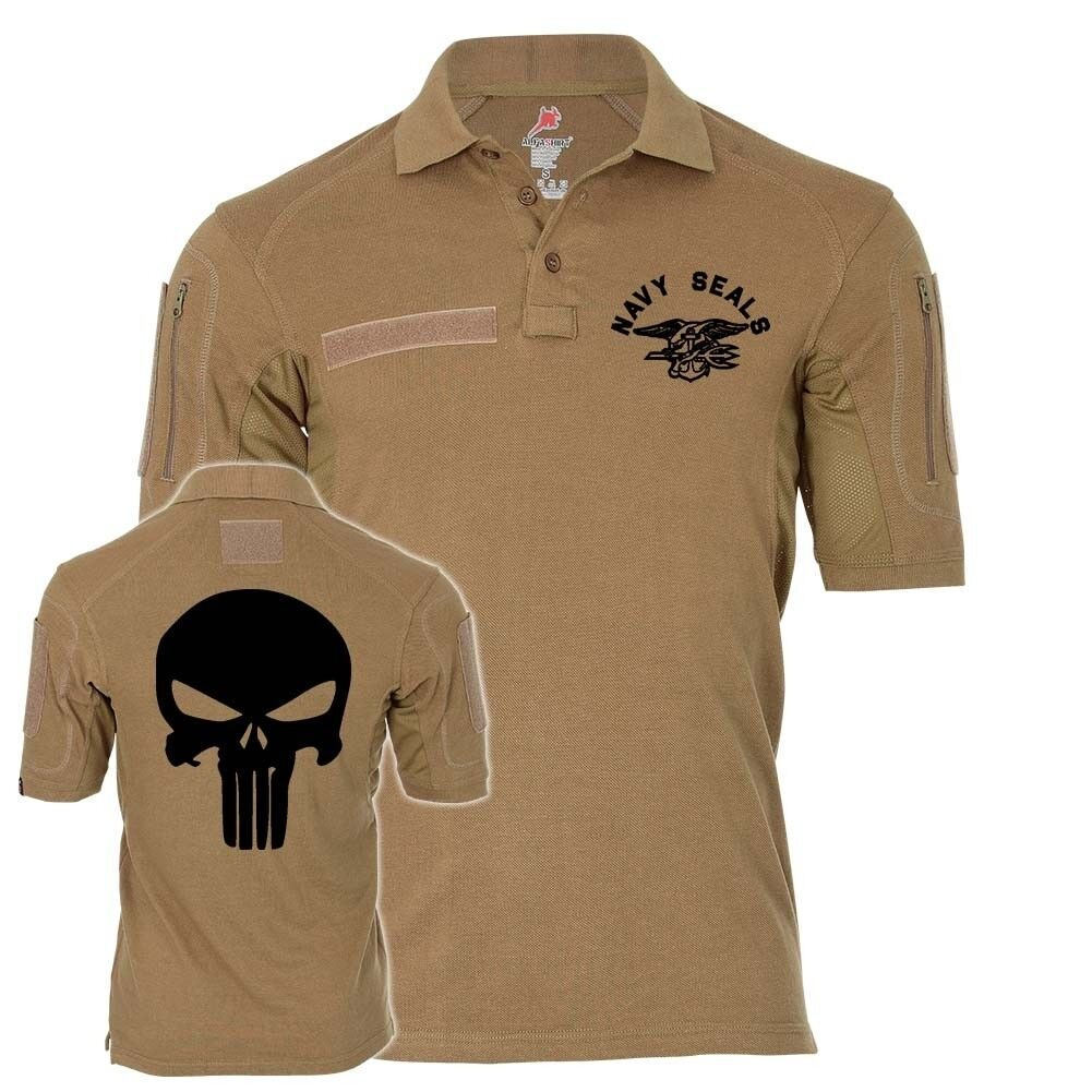 Tactical Poloshirt Navy Seals Punisher TYP 2  Infidel Sniper