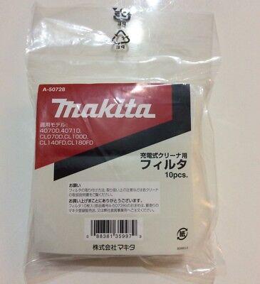 Makita Japan Filter for Makita Vacuum Cleaner 10 pieces A-50728