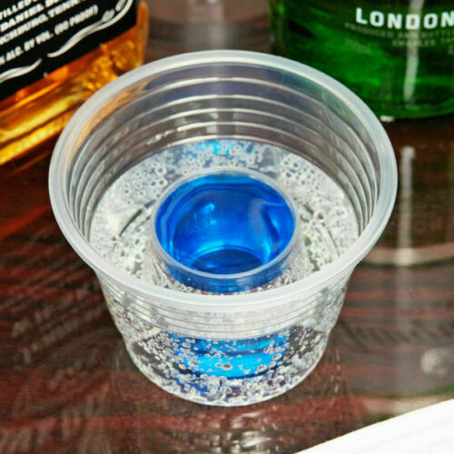 Jager Bomb Blaster Power Chaser Shot Glass Disposable Plastic Cup Case-1000 pack