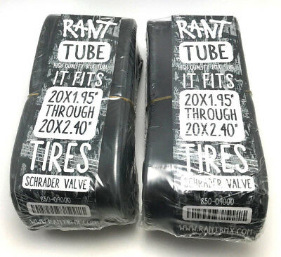 "2 x RANT 26/"" BMX CRUISER BICYCLE TUBES 26 x 1.75 1.85 1.95 2.0 2.1 2.25 2.35 SE"