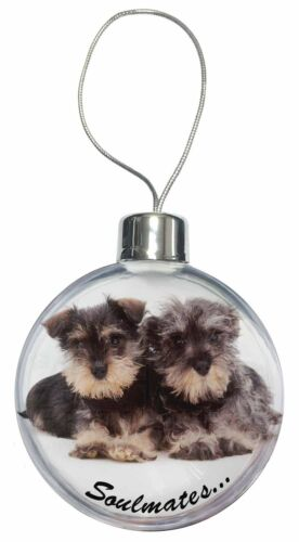 Schnauzer Puppy Dogs /'Soulmates/' Christmas Tree Bauble Decoration Gif SOUL-49CB