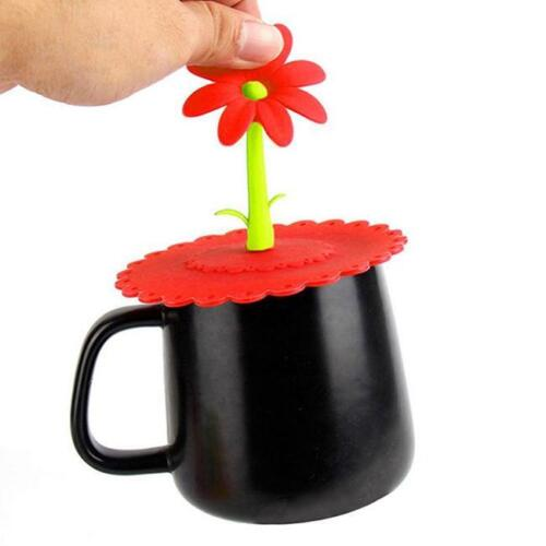 Silicone Anti-dust Glass Cup Cover Coffee Mug Suction Seal Lid Cap Tool Shan