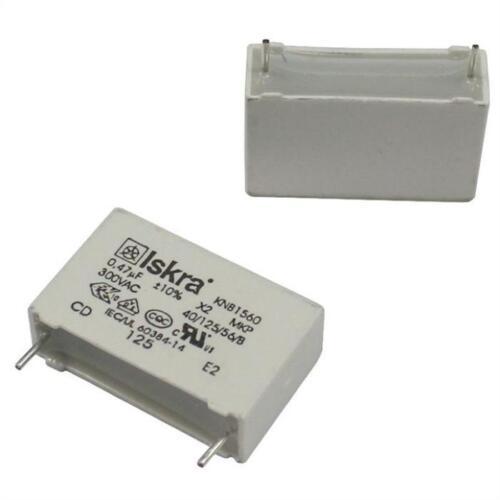 10x Condensateur suppression 0,47µF 300V AC RM22,5 KNB1560U4710/%300V ; 470nF