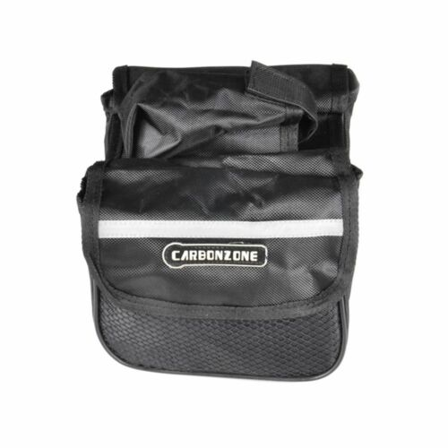 Bike Cycling Front Frame Tube Handlebar Pannier Double Pouch Bicycle Bag
