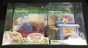 BRIARBERRY-SOFA-BED-amp-KITCHEN-SET-teddy-bear-FISHER-PRICE-worn-packages-NEW