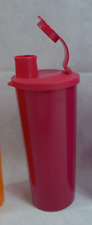 Tupperware Straight Edge 16-oz Tumbler with Pour Seal in Glitter Red New
