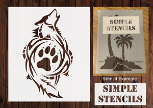 Craft Stencil Animal Stencil Wolf Stencil Card making Airbrush